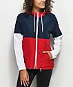 Zine Reajan chaqueta cortavientos roja, blanca y azul