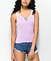 Zine Rosenthal Crisscross camiseta sin mangas en color lavanda y menta