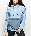 Zine Sabra Light Blue Jacquard Pullover Windbreaker Jacket