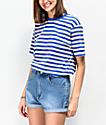 Zine Sandler Blue & Yellow Stripe Oversized T-Shirt