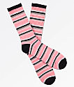 Zine Sea Pink Stripe Crew Socks