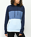 Zine Shenae Blue Colorblock Hoodie