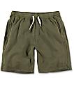 Zine Silas shorts deportivos en verde olivo
