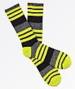 Zine Street Chartreuse Stripe Crew Socks