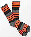 Zine Street Mecca Orange Stripe Crew Socks