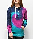 Zine Tera Navy Blue & Purple Tie Dye Hoodie