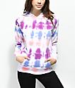 Zine Tera Purple, Pink & Blue Tie Dye Hoodie
