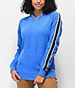 Zine Tera sudadera con capucha azul con rayas
