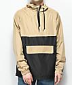 Zine Unlimited chaqueta anorak negra y caqui