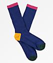 Zine Veil Mazarine Blue Crew Socks