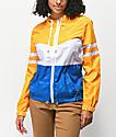 Zine Zuri chaqueta cortavientos amarillo, blanco y azul