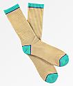 Zine calcetines en marrón y azul claro