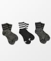adidas 3 Pack Lurex calcetines tobilleros