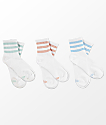 adidas 3 Pack White Ash Multi Anklet Socks