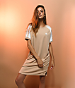 adidas 3 Stripe Ash Pearl Raglan Dress