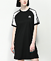 adidas 3 Stripe Black & White Raglan Dress