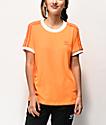 adidas 3 Stripe Flash Orange T-Shirt