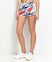 adidas 3 Stripe Multi Color Track Shorts