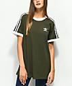 adidas 3 Stripe Night Cargo camiseta verde
