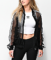 adidas 3 Stripe Tulle Black Track Jacket