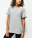 adidas 3 Stripe camiseta gris jaspeada