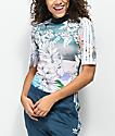 adidas Abstract Floral Mock Neck Shirt