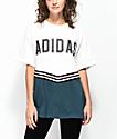 adidas Adibreak White & Navy Collegiate T-Shirt