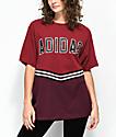 adidas Adibreak camiseta colegial en color borgoño