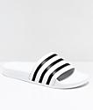 adidas Adilette sandalias blancas y negras