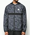 adidas BB Wrap chaqueta cortavientos en negro y gris