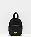 adidas Black & Gold Faux Leather Mini Backpack