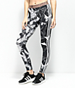 adidas Black & White Floral 3 Stripe Leggings