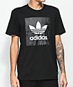 adidas Blackbird Solid Black & Warped T-Shirt