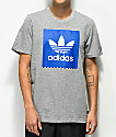 adidas Blackbird Solid Core Heather & Royal Blue T-Shirt
