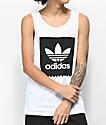 adidas Blackbird camiseta blanca sin mangas