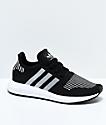 adidas Boys Swift Run Core Black & Silver Shoes