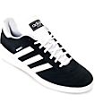 adidas Busenitz Black & White Suede Shoes