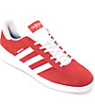 adidas Busenitz Red & White Suede Shoes