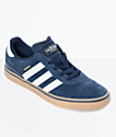 adidas Busenitz Vulc  Navy & White Shoes