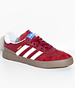 adidas Busenitz Vulc Samba RX zapatos rojos y blancos