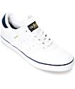 adidas Busenitz Vulc White & Navy Leather Shoes