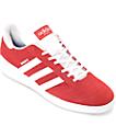 adidas Busenitz zapatos de ante en blanco y rojo