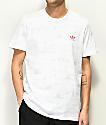 adidas Climalite Haven camiseta blanca con estampado en todo