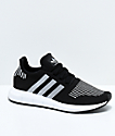 adidas Kids Swift Run Core Black & Silver Shoes