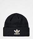 adidas Men's Black & Gold Foil Beanie