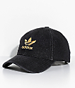 adidas Men's Trefoil Black Denim Strapback Hat