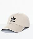 adidas Men's Trefoil Curved Bill Khaki Strapback Hat