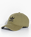 adidas Men's Trefoil Olive Washed Strapback Hat