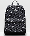 adidas National Allover Script Black & White Backpack