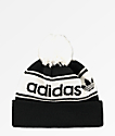 adidas Originals Black & White Pom Beanie